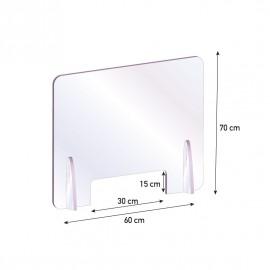 Barriere parafiato da banco protettive in Plexiglass da 5mm
